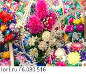 Букет из декоративных цветов. Стоковое фото, фотограф Александр Власик / Фотобанк Лори