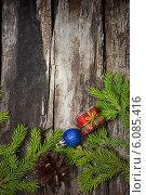 Купить «Новогоднее поздравление», фото № 6085416, снято 4 июля 2014 г. (c) Наталья Осипова / Фотобанк Лори