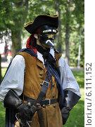 Мужчина в венецианском карнавальном костюме и маске баутта. Стоковое фото, фотограф Хельга Танг / Фотобанк Лори