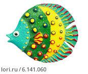 """Купить «Магнит на холодильник """"Коралловая рыбка"""" изолировано на белом фоне», эксклюзивное фото № 6141060, снято 13 июля 2014 г. (c) Артём Крылов / Фотобанк Лори"""