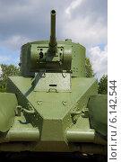 Купить «Лобовая часть и башня советского танка БТ-5», фото № 6142544, снято 15 июля 2014 г. (c) Виктор Карасев / Фотобанк Лори