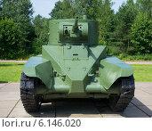 Купить «Советский колесный танк БТ-5 анфас», фото № 6146020, снято 15 июля 2014 г. (c) Виктор Карасев / Фотобанк Лори