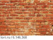 Стена из красного кирпича. Стоковое фото, фотограф Елена Ларина / Фотобанк Лори