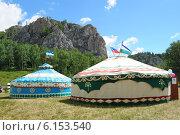 Башкирские юрты. Стоковое фото, фотограф Гузель Гарипова / Фотобанк Лори