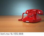 Купить «Vintage phone on green background. Hotline support concept.», фото № 6155904, снято 17 января 2019 г. (c) Maksym Yemelyanov / Фотобанк Лори