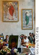 Похороны (кремация) Валерии Новодворской (2014 год). Редакционное фото, фотограф Анна Юферева / Фотобанк Лори