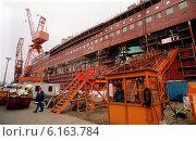 Купить «Lloyd Werft (Bremerhaven)», фото № 6163784, снято 25 июля 1996 г. (c) Caro Photoagency / Фотобанк Лори