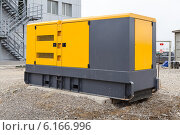 Купить «Дизельная электростанция (генератор)», фото № 6166996, снято 1 октября 2013 г. (c) Родион Власов / Фотобанк Лори