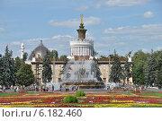"""Купить «Фонтан """"Каменный цветок"""" на ВДНХ (ВВЦ) в Москве», эксклюзивное фото № 6182460, снято 21 июля 2014 г. (c) lana1501 / Фотобанк Лори"""