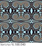 Купить «Бесшовный фрактальный орнамент со спиралями», иллюстрация № 6188040 (c) Astronira / Фотобанк Лори