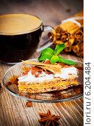 Купить «Кофе и десерт», фото № 6204484, снято 21 ноября 2019 г. (c) Виталий Радунцев / Фотобанк Лори
