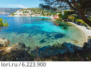 Купить «Summer view of Assos village (Greece,  Kefalonia)», фото № 6223900, снято 14 июня 2014 г. (c) Юрий Брыкайло / Фотобанк Лори