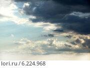Тучи на фоне голубого неба. Стоковое фото, фотограф Svetlana Zavrazhina / Фотобанк Лори