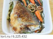 Жареная рыба. Стоковое фото, фотограф Елена Медведева / Фотобанк Лори