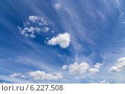 Купить «Облака на голубом небе», эксклюзивное фото № 6227508, снято 22 июля 2014 г. (c) Сергей Лаврентьев / Фотобанк Лори