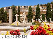 Купить «Montjuic Cemetery in Barcelona», фото № 6240124, снято 20 июля 2014 г. (c) Яков Филимонов / Фотобанк Лори