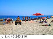 Купить «Активный отдых на пляже. Куликово, Калининградская область», фото № 6243216, снято 19 июля 2014 г. (c) Михаил Рудницкий / Фотобанк Лори