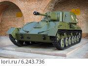 Купить «Самоходка СУ-76 времен Великой Отечественной войны», фото № 6243736, снято 6 августа 2014 г. (c) Александр Романов / Фотобанк Лори