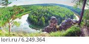 Купить «Сибирский таежный пейзаж», фото № 6249364, снято 24 июля 2014 г. (c) Виктор Застольский / Фотобанк Лори