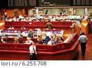 Купить «Floor trading on the Frankfurt Stock Exchange», фото № 6253708, снято 17 мая 2000 г. (c) Caro Photoagency / Фотобанк Лори