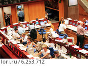 Купить «Floor trading on the Frankfurt Stock Exchange», фото № 6253712, снято 17 мая 2000 г. (c) Caro Photoagency / Фотобанк Лори
