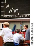 Купить «Floor trading on the Frankfurt Stock Exchange», фото № 6253736, снято 17 мая 2000 г. (c) Caro Photoagency / Фотобанк Лори