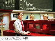 Купить «Floor trading on the Frankfurt Stock Exchange», фото № 6253740, снято 17 мая 2000 г. (c) Caro Photoagency / Фотобанк Лори