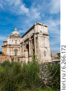 Купить «Ancient Rome ruines on bright summer day», фото № 6266172, снято 21 марта 2014 г. (c) Elnur / Фотобанк Лори