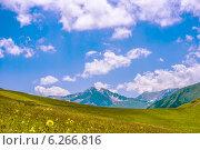Горное плато. Стоковое фото, фотограф Дмитрий Бодяев / Фотобанк Лори
