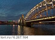 Мост Императора Петра Великого (2013 год). Редакционное фото, фотограф Юрий Ермаков / Фотобанк Лори