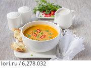 Тыквенный суп с кокосовым молоком. Стоковое фото, фотограф Ольга Лепёшкина / Фотобанк Лори
