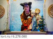 Купить «Кот Баюн на костюмированной экскурсии в тереме Снегурочки в Костроме», эксклюзивное фото № 6278080, снято 14 июня 2014 г. (c) Liseykina / Фотобанк Лори