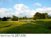 Купить «Поле для гольфа осенью», фото № 6287036, снято 15 сентября 2009 г. (c) Татьяна Кахилл / Фотобанк Лори