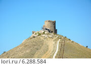 Купить «Башня крепости Чембало в Балаклаве. Крым», фото № 6288584, снято 26 июля 2014 г. (c) Ирина Балина / Фотобанк Лори