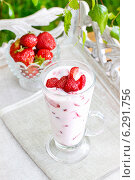 Купить «Strawberry smoothie. Summer party dessert», фото № 6291756, снято 1 июля 2018 г. (c) BE&W Photo / Фотобанк Лори