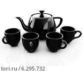 Купить «Черные чашки и чайник», иллюстрация № 6295732 (c) Guru3d / Фотобанк Лори