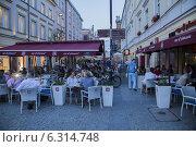 Купить «Restaurants on Foksal Street near Nowy Њwiat Street», фото № 6314748, снято 15 июля 2020 г. (c) BE&W Photo / Фотобанк Лори