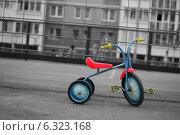 Детский трехколесный велосипед. Стоковое фото, фотограф Сергей Погодин / Фотобанк Лори