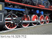 Купить «Паровоз серии ТЭ 858», фото № 6329712, снято 21 января 2014 г. (c) Сергей Трофименко / Фотобанк Лори
