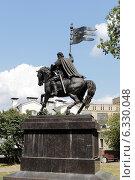 Купить «Москва памятник святому князю Дмитрию Донскому летним днём», эксклюзивное фото № 6330048, снято 3 августа 2014 г. (c) Дмитрий Неумоин / Фотобанк Лори