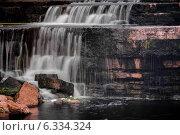 Купить «Саблинский водопад», фото № 6334324, снято 23 августа 2014 г. (c) Артемий Усатов / Фотобанк Лори