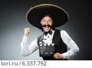 Купить «Funny mexican with sombrero in concept», фото № 6337792, снято 7 июня 2014 г. (c) Elnur / Фотобанк Лори