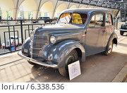 Купить «Автомобиль КИМ 10-50 на ВДНХ», эксклюзивное фото № 6338536, снято 12 августа 2014 г. (c) Алёшина Оксана / Фотобанк Лори