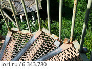 Купить «Стальная лестница над пропастью. Эстония», эксклюзивное фото № 6343780, снято 17 августа 2014 г. (c) Александр Щепин / Фотобанк Лори