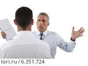 Купить «Man yelling at his assistant», фото № 6351724, снято 2 мая 2011 г. (c) Phovoir Images / Фотобанк Лори