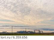 Индустриальный пейзаж на закате. Стоковое фото, фотограф Oleksii Pyltsyn / Фотобанк Лори