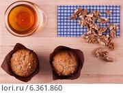 Шоколадные маффины с мёдом и орешками. Стоковое фото, фотограф Степанова М Е / Фотобанк Лори