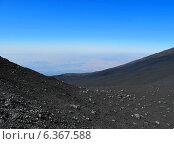 Этна. Черно-голубой пейзаж (2010 год). Стоковое фото, фотограф masebora / Фотобанк Лори