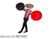Купить «Funny mexican with sombrero in concept», фото № 6369092, снято 22 февраля 2014 г. (c) Elnur / Фотобанк Лори