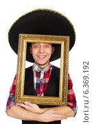 Купить «Funny mexican with sombrero in concept», фото № 6369192, снято 22 февраля 2014 г. (c) Elnur / Фотобанк Лори